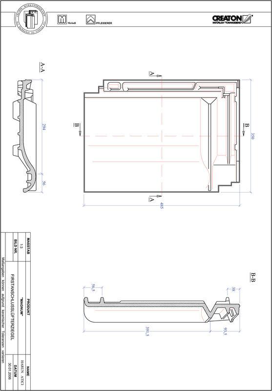 Prodotto file CAD MAGNUM Tegola raccordo colmo-aeratore FALZ