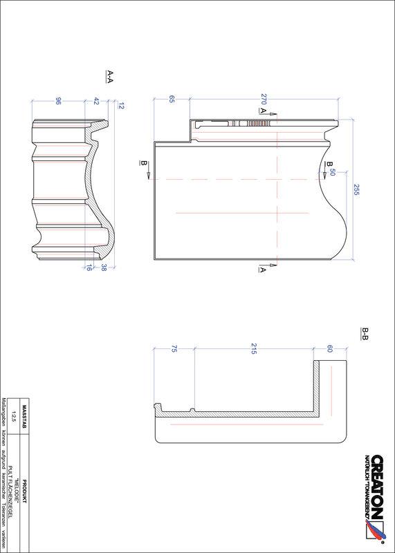 Prodotto file CAD MELODIE Tegola di testata superficie PULTFLA