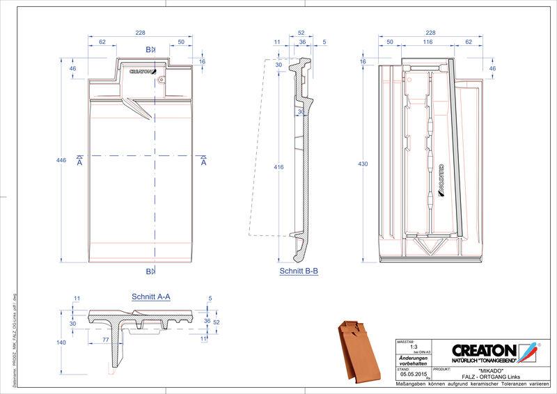 Prodotto file CAD MIKADO Esalatore raccordo colmo gronda di frontespizio sinistra FALOGL