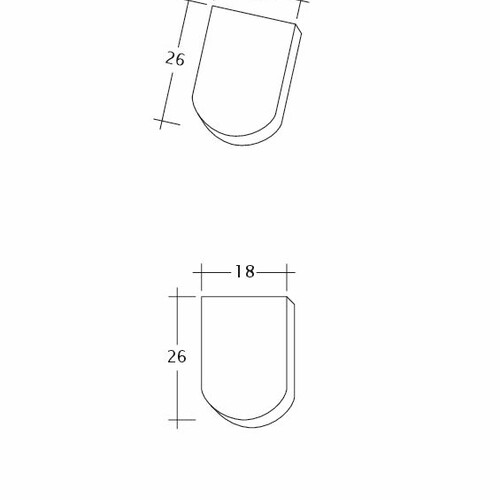Prodotto disegno tecnico KLASSIK Firstanschluss