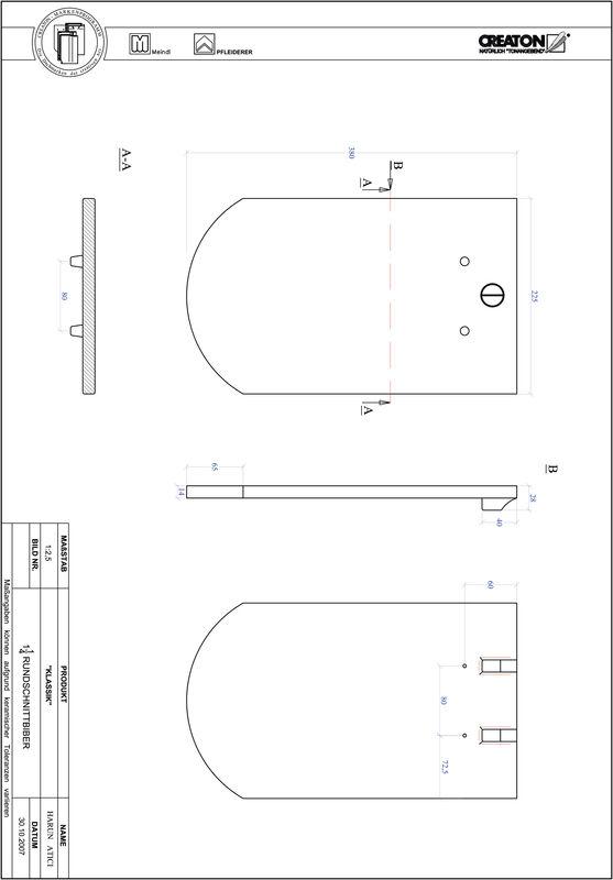 Prodotto file CAD KLASSIK Taglio tondo RUND-1-1-4