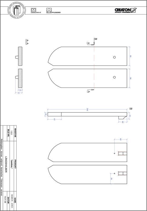 Prodotto file CAD SAKRAL Taglio tondo RUND-LH