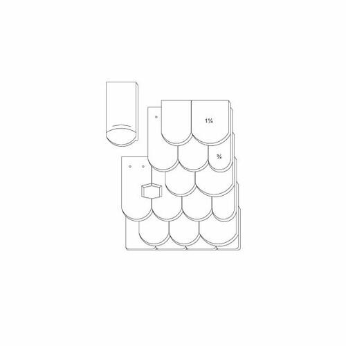 Prodotto disegno tecnico KLASSIK OGAusbildung-Doppeldeckung-3-4-1-1-4-Traufziegel