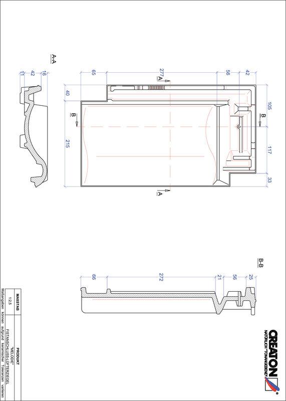 Prodotto file CAD MELODIE Tegola raccordo colmo-aeratore FALZ