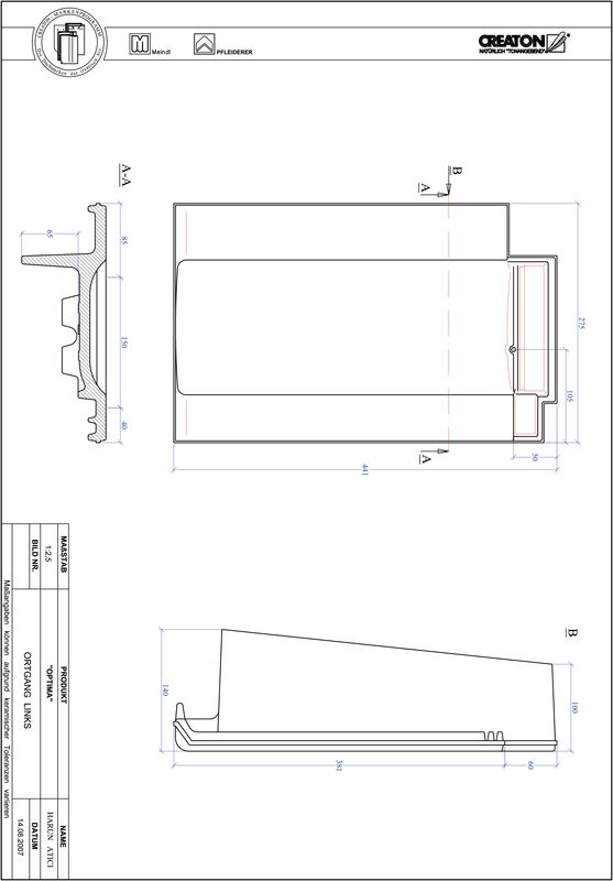 Prodotto file CAD TERRA OPTIMA Gronda di frontespizio sinistra OGL