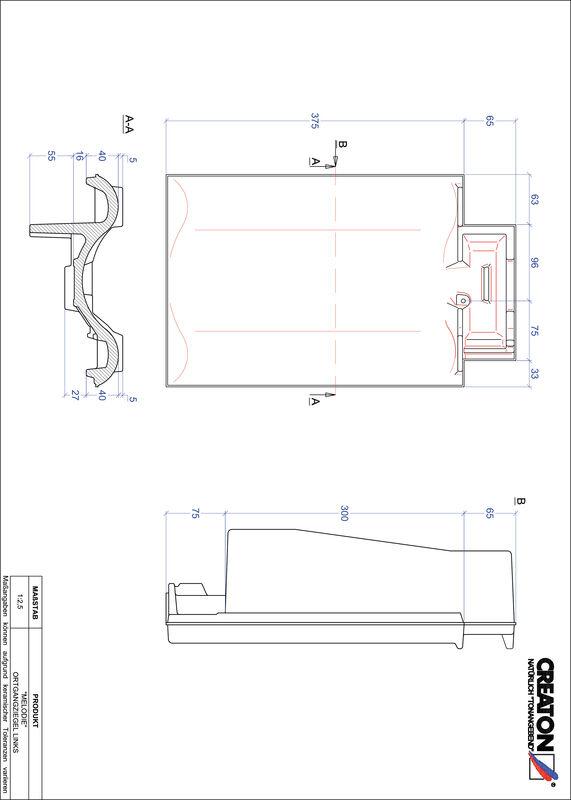 Prodotto file CAD MELODIE Gronda di frontespizio sinistra OGL