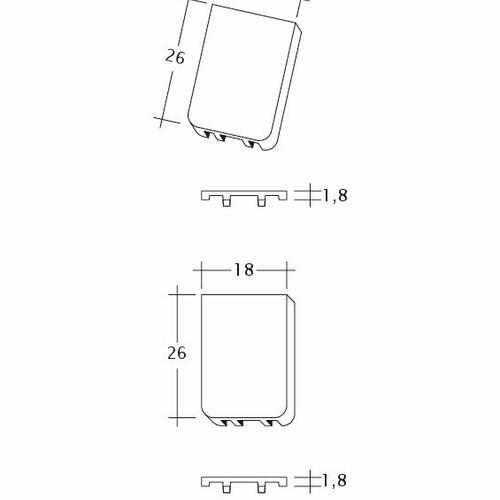 Prodotto disegno tecnico KLASSIK Traufluefter
