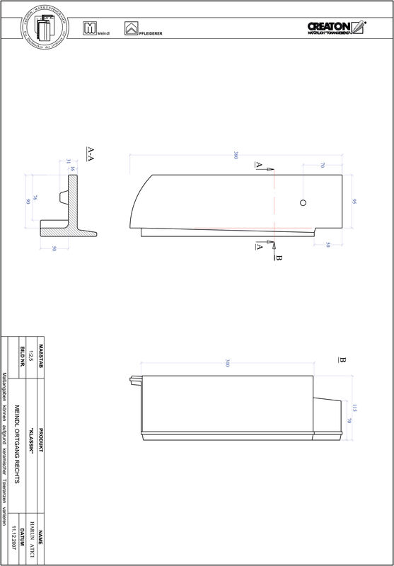 Prodotto file CAD KLASSIK Taglio tondo RUND-OGR