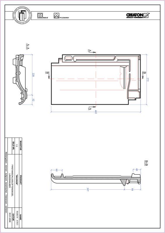 Prodotto file CAD MAGNUM Esalatore raccordo colmo mezza tegola FALLH