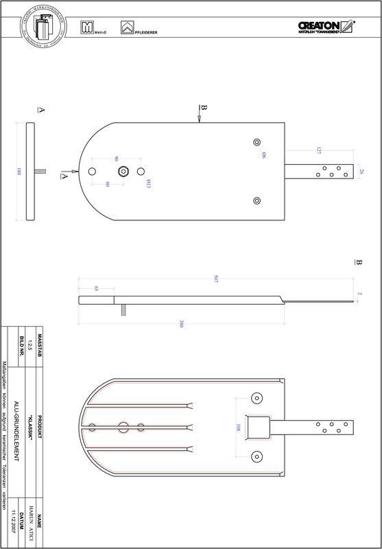 Prodotto file CAD KLASSIK Taglio tondo RUND-GRUNDALU
