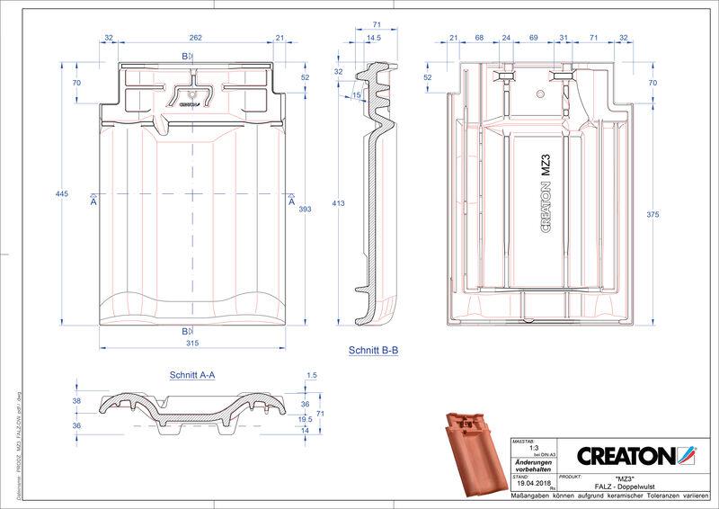 Prodotto file CAD MZ3 NEU Esalatore raccordo colmo tegola a doppia onda FALDWZ