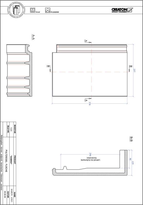 Prodotto file CAD DOMINO Tegola di testata superficie PULTFLA