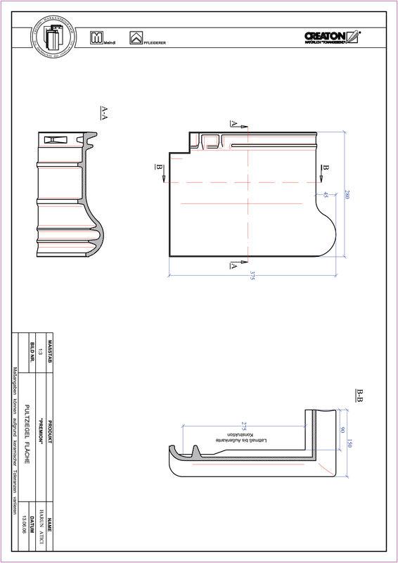 Prodotto file CAD PREMION Tegola di testata PULT
