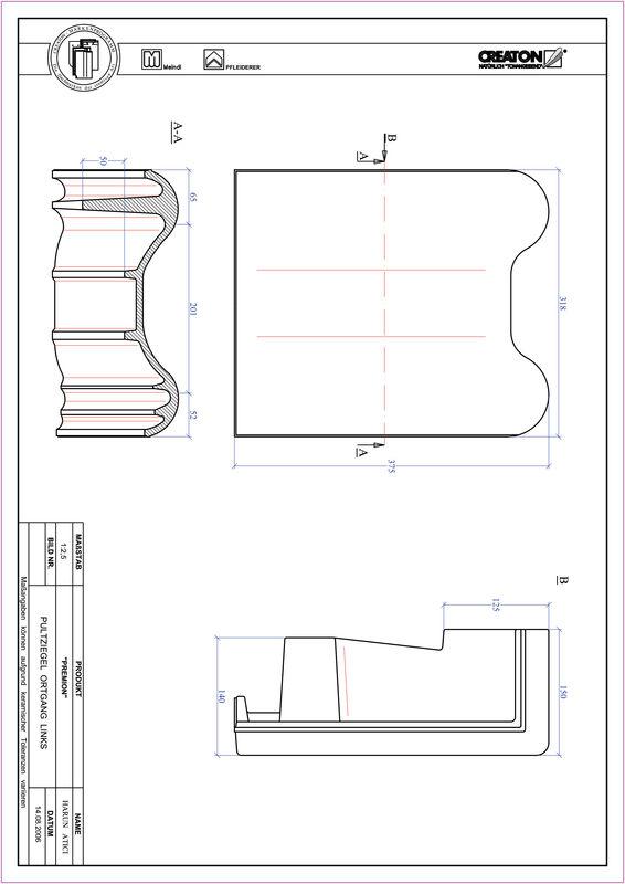 Prodotto file CAD PREMION Tegola di testata gronda di frontespizio sinistra PULTOGL
