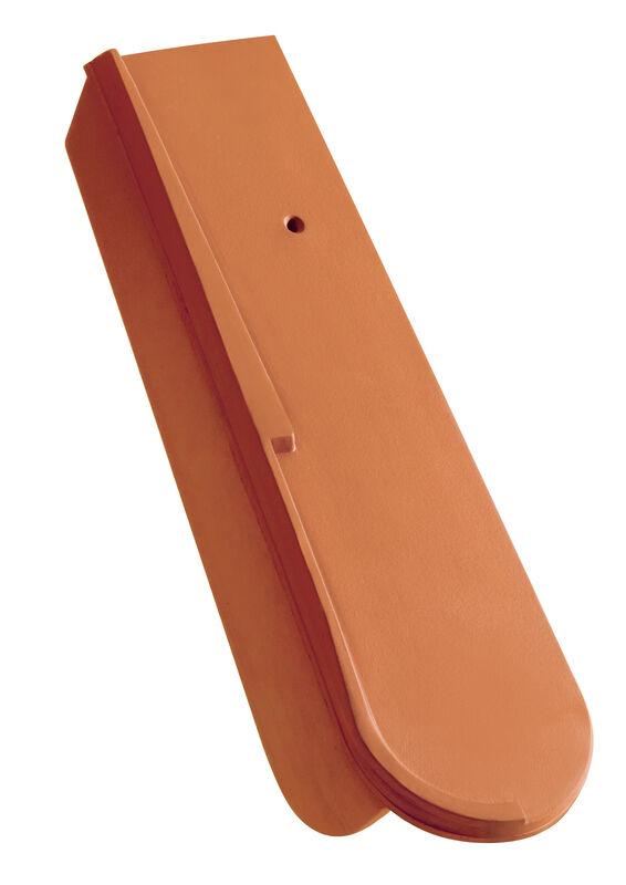Gronda di frontespizio scorrevole con breve linguetta laterale ca. 5 cm a destra