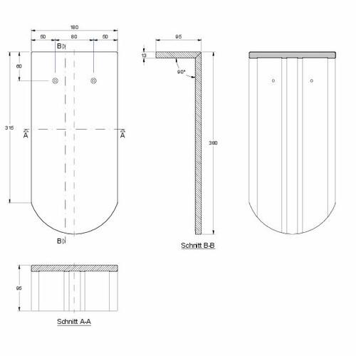 Prodotto disegno tecnico KLASSIK PULT-lang