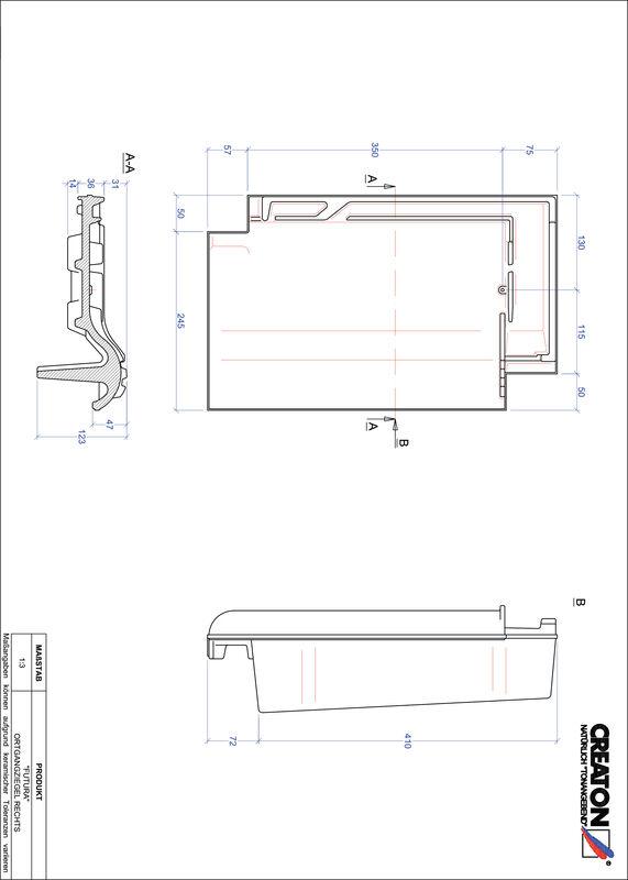 Prodotto file CAD FUTURA Gronda di frontespizio destra OGR