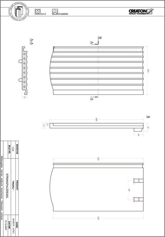 Prodotto file CAD PROFIL Taglio a segmento d'arco STRANGFALZ-GEWELLT-1-1