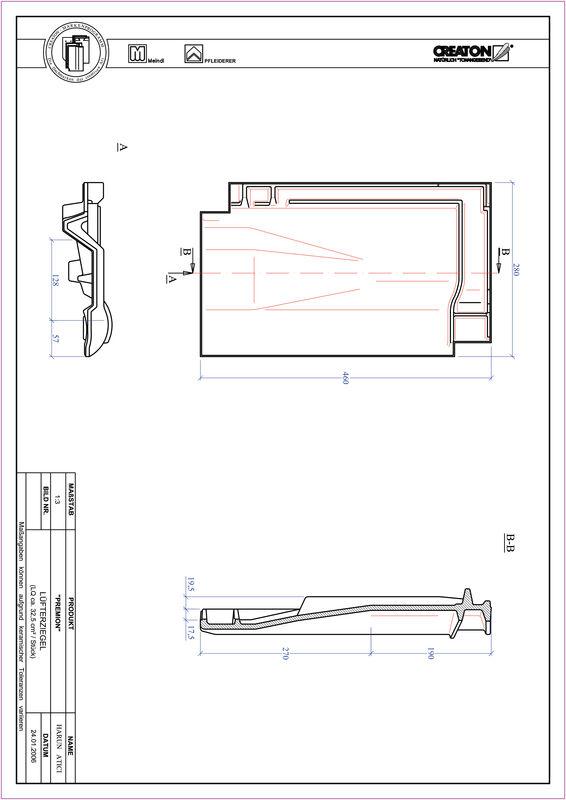 Prodotto file CAD PREMION Tegola aeratore LUEFTZ
