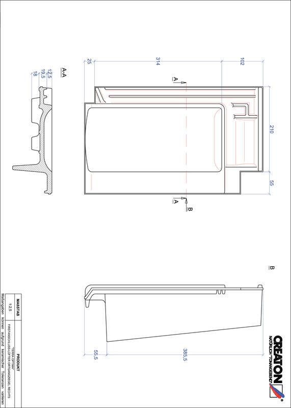 Prodotto file CAD TERRA OPTIMA Esalatore raccordo colmo gronda di frontespizio destra FALOGR