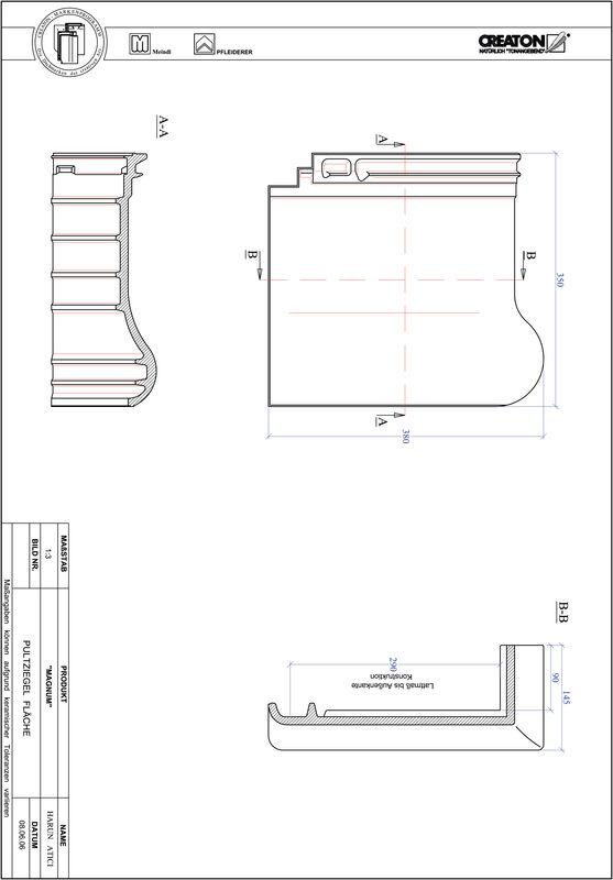Prodotto file CAD MAGNUM Tegola di testata superficie PULTFLA