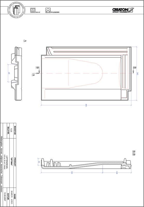 Prodotto file CAD TERRA OPTIMA Tegola aeratore LUEFTZ