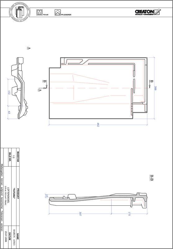Prodotto file CAD FUTURA Tegola aeratore LUEFTZ