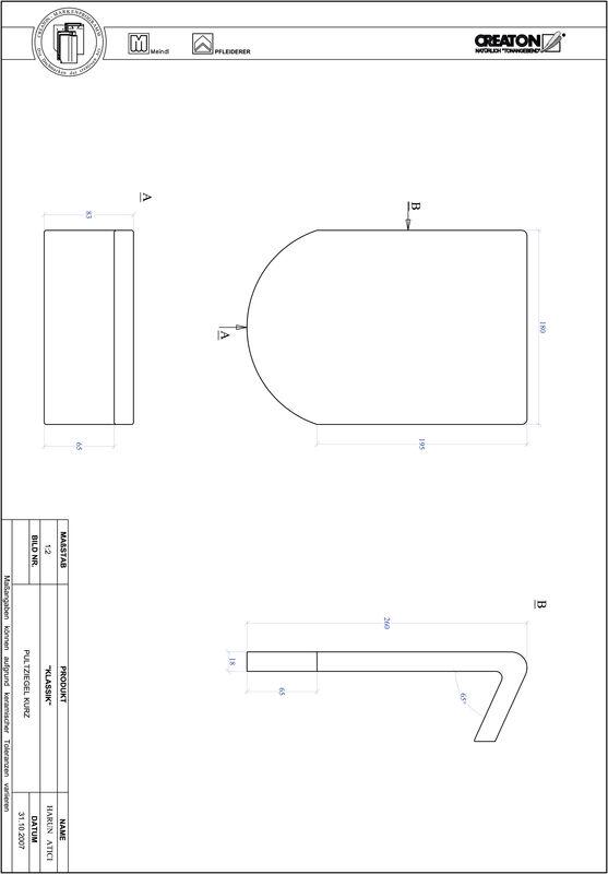 Prodotto file CAD KLASSIK Taglio tondo RUND-PULT-kurz1
