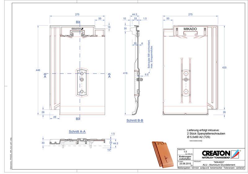 Prodotto file CAD MIKADO Alluminio base GRUNDALU