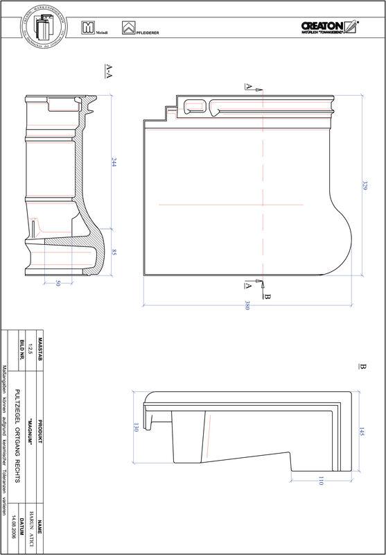 Prodotto file CAD MAGNUM Tegola di testata gronda di frontespizio destra PULTOGR
