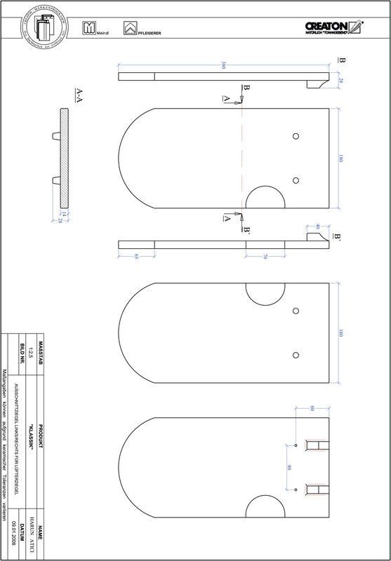 Prodotto file CAD KLASSIK Taglio tondo RUND-AUSSCHNITT-LUEFTZ