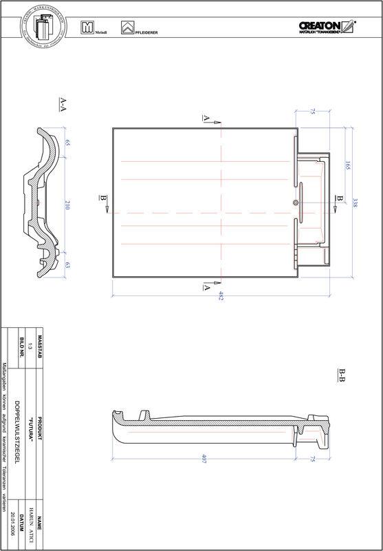 Prodotto file CAD FUTURA Tegola a doppia onda DWZ