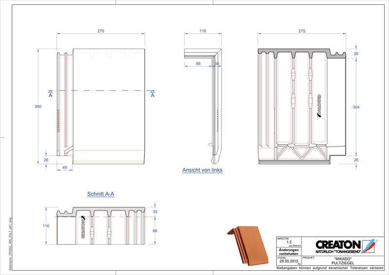 Prodotto file CAD MIKADO Tegola di testata PULT