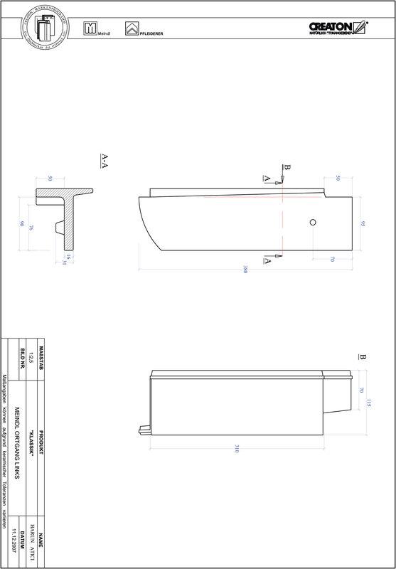 Prodotto file CAD KLASSIK Taglio tondo RUND-OGL