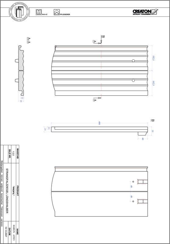 Prodotto file CAD PROFIL Taglio a segmento d'arco STRANGFALZ-GEWELLT-LH