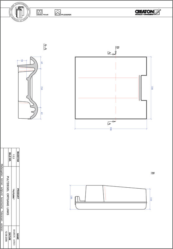 Prodotto file CAD FUTURA Tegola di testata gronda di frontespizio sinistra PULTOGL