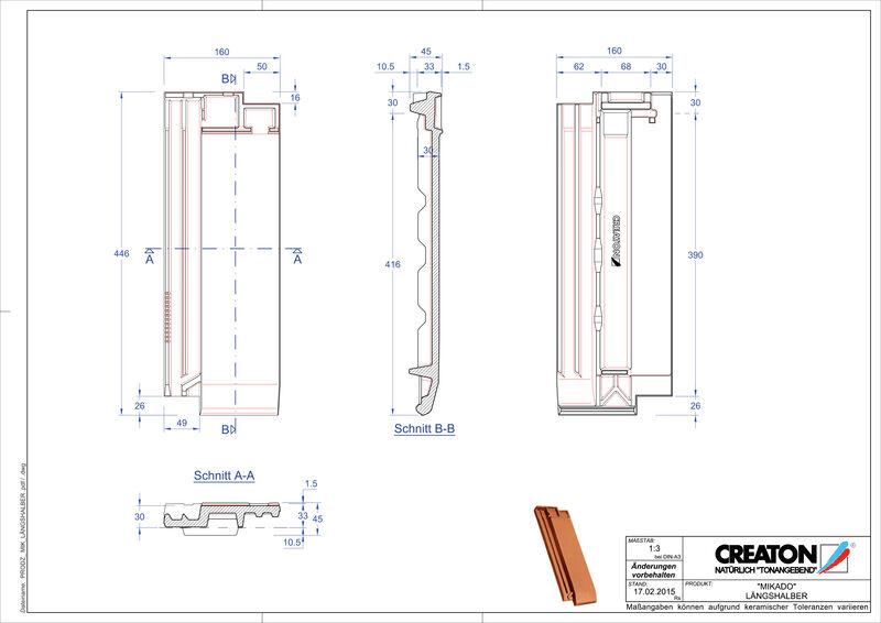 Prodotto file CAD MIKADO Mezza tegola LH