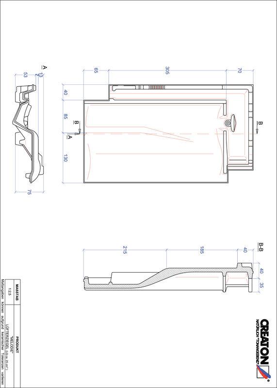 Prodotto file CAD MELODIE Tegola aeratore LUEFTZ