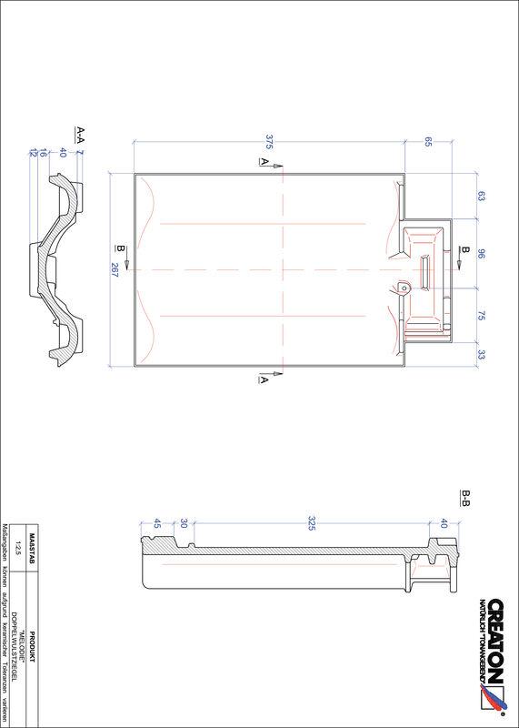 Prodotto file CAD MELODIE Tegola a doppia onda DWZ