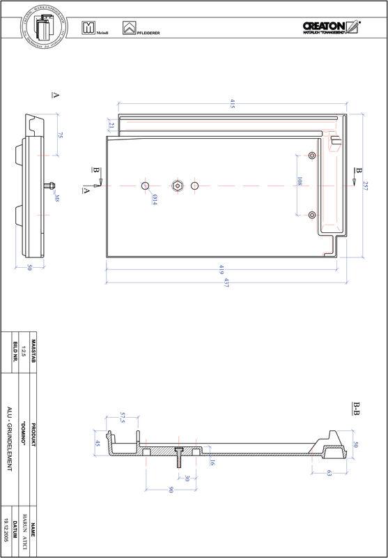 Prodotto file CAD DOMINO Alluminio base GRUNDALU