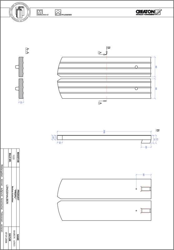 Prodotto file CAD PROFIL Taglio a segmento d'arco BKBI-LH