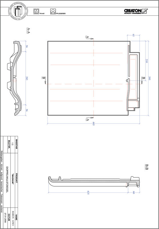 Prodotto file CAD MAGNUM Tegola a doppia onda DWZ