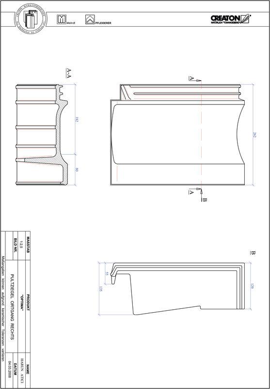 Prodotto file CAD TERRA OPTIMA Tegola di testata gronda di frontespizio destra PULTOGR