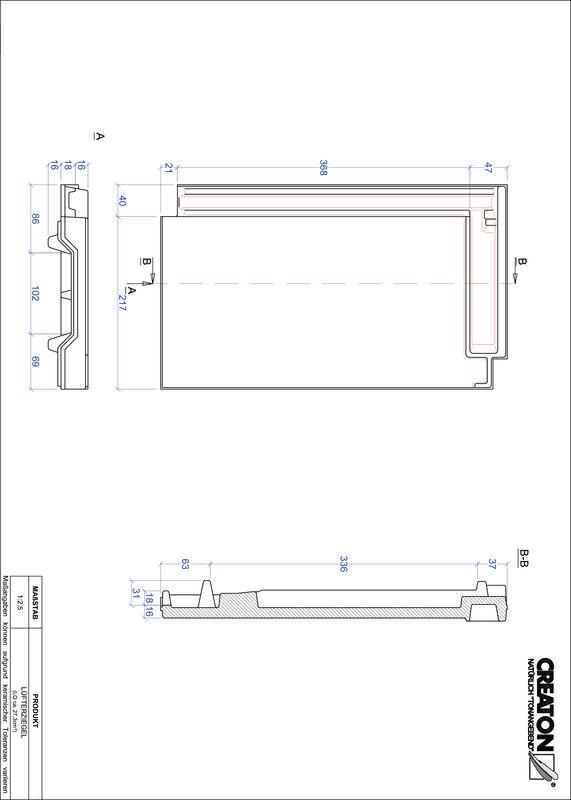 Prodotto file CAD DOMINO Tegola aeratore LUEFTZ