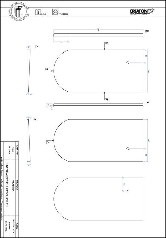 Prodotto file CAD KLASSIK Taglio tondo RUND-UNTERLAEUFER