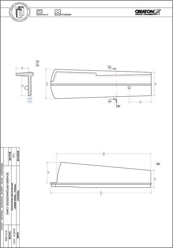 Prodotto file CAD PROFIL Taglio a segmento d'arco KERA-SAECHS-18-CM-OGL