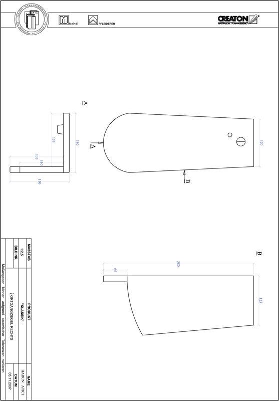 Prodotto file CAD KLASSIK Taglio tondo RUND-OGR-3-4