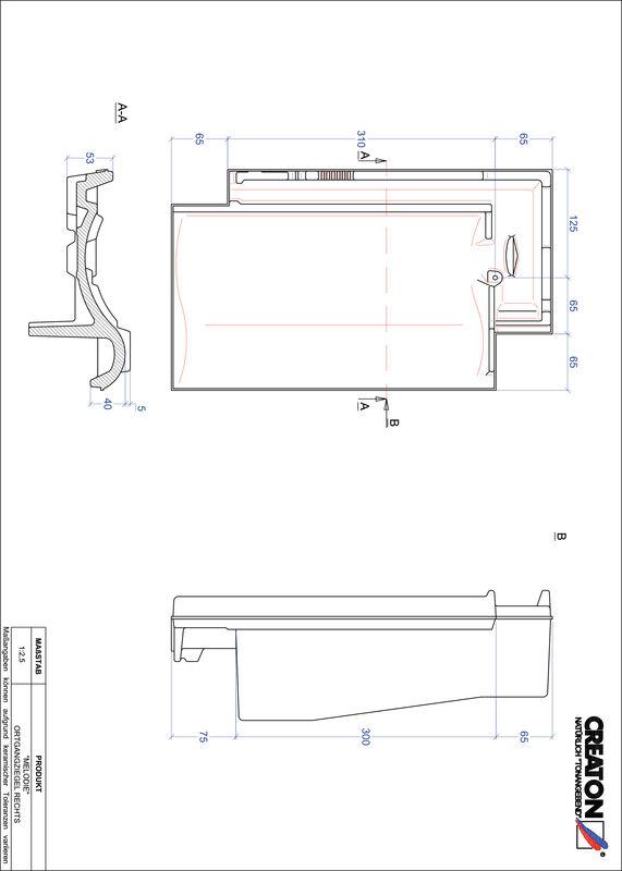 Prodotto file CAD MELODIE Gronda di frontespizio destra OGR